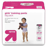 up & up Girls' Training Pants Big Pack Size 2T-3T 58 ct
