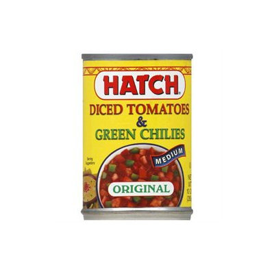 Hatch Tomatoes Diced w/ Green Chilies, Medium, 10 oz, 12 pk