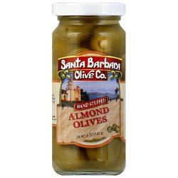 SANTA BARBARA OLIVES Green Almond Stuffed Olives 5 OZ