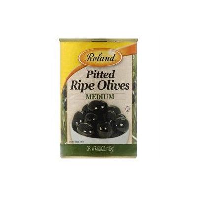 Roland Corporation Us Roland Roland Ripe Olives - Medium Pitted 15 Oz Case of 12