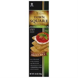 Town Square Cracker Rice Pepper & Olive O, 3.5 Oz, Pack Of 6