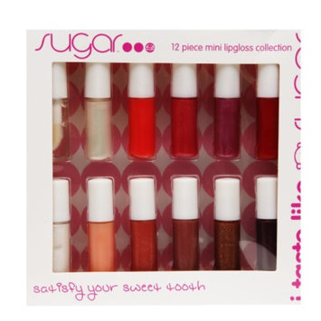 Sugar I Taste Like Sugar 12 Piece Mini Lipgloss Collection, .48 fl oz