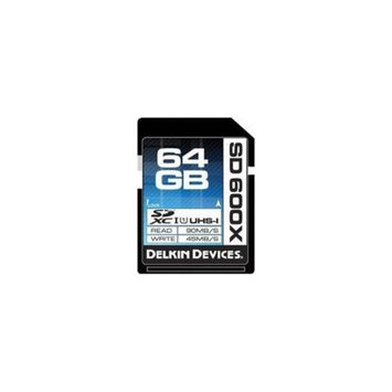 Delkin DDSD600-64GB 64GB SD 600X UHS-I Memory Card