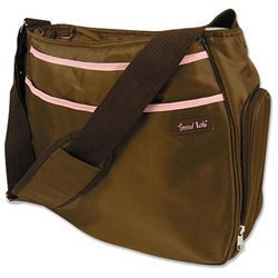 Trend Lab Hobo Diaper Bag - Brown/Pink