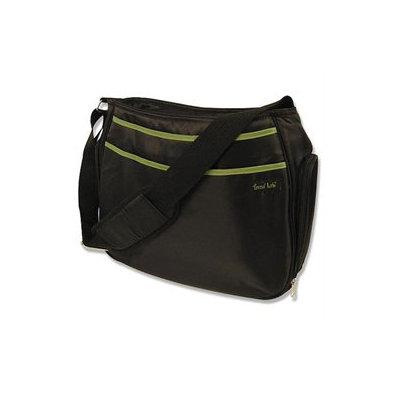 Trend Lab Hobo Diaper Bag - Black/Avocado Black/Green