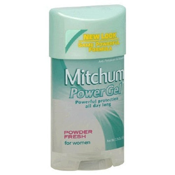 Mitchum for Women Power Gel, Anti-perspirant & Deodorant, Powder Fresh 2.25 Oz /63 G (Pack of 6)
