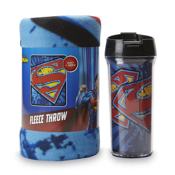 The Northwest Company Superman Travel Mug & Fleece Throw