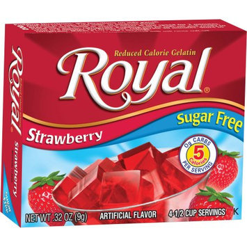 Jelsert Royal Strawberry Reduced Calorie Gelatin, 0.32 oz, (Pack of 12)