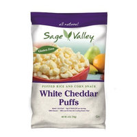 Sage Valley Puff, White Cheddar, 4-Ounce (Pack of 12)