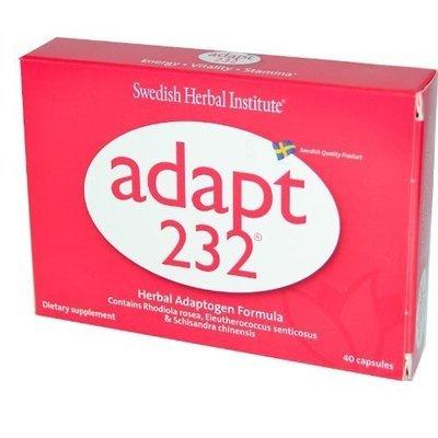 Swedish Herbal Institute Adapt-232, Herbal Adaptogen Formula, 40 Capsules