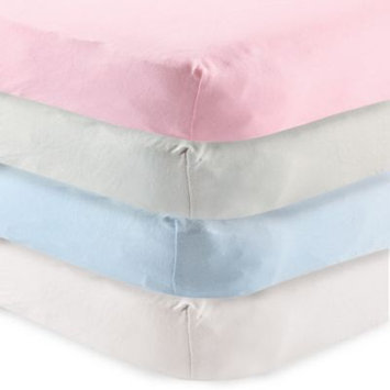 Baby Vision Touched By Nature Organic Cotton Crib Sheet - Light Pink
