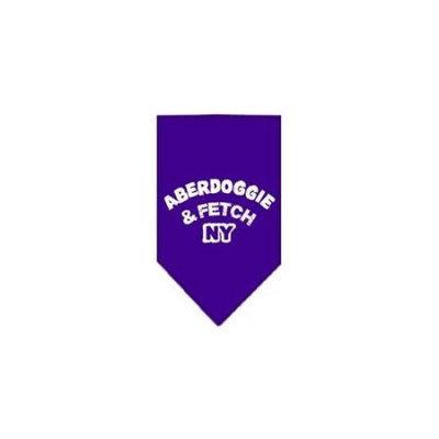 Ahi Aberdoggie NY Screen Print Bandana Purple Large