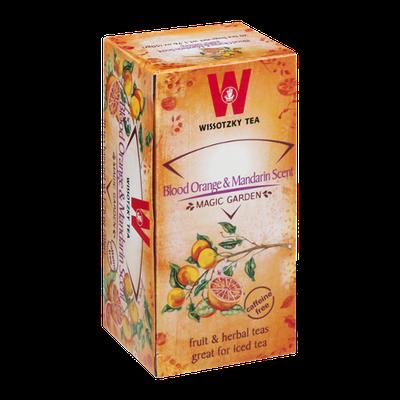 Wissotzky Tea Bags Magic Garden Blood Orange & Mandarin Scent - 20 CT