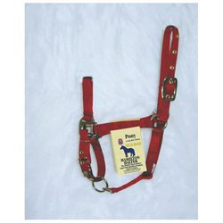 Hamilton Halter Company - Adjustable Chin Halter With Snap- Red Pony - 3DAS PORD