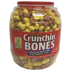 Triumph Pet Dog Treat Crunchin Bones Barrel 2Lb