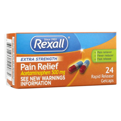 Rexall Extra Strength Pain Relief - Rapid Release Gelcaps, 24 ct