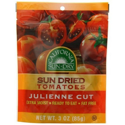 California Sun Dried California Sun-Dry Sun Dried Tomatoes (Julienne Cut), 3-Ounce Pouches (Pack of 6)