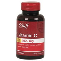 Schiff Products Schiff Vitamin C plus Rose Hips, 1000mg, Tablets