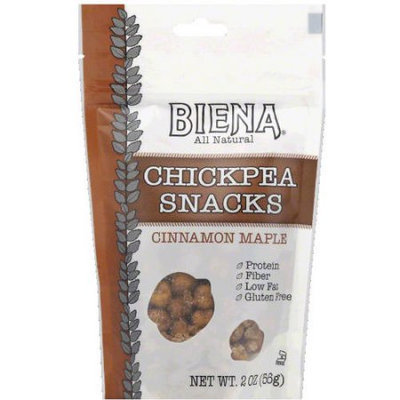 Biena Cinnamon Maple Chickpea Snacks, 2 oz, (Pack of 12)