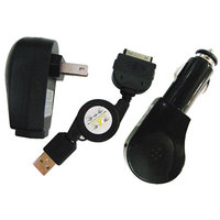 Inland Apple iPhone/iPod AC/DC Charger Kit