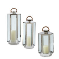 Cambridge MAR610X32SSPN 10 x 10 x 32 in. Marine-Grade HarborView Lantern With Candle