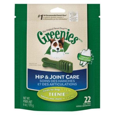 Greenies Hip & Joint Care Dental Chew, Teenie, 6 oz