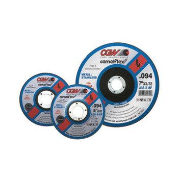 CGW Abrasives Thin Cut-Off Wheels - 4-1/2x3/32x5/8-11 a36-s-bf t27 cutoff wheel