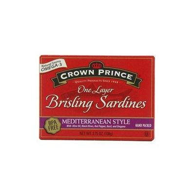 Crown Prince Natural Brisling Sardines Mediterranean Style - 3.75 oz