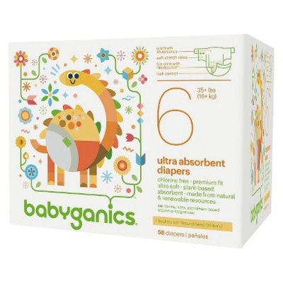 BabyGanics Diapers Value Pack - Size 6 (58 Count)