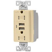 EAGLE ELECTRONICS Eagle Electric TR7745V 15-Amp USB Receptacle, Ivory