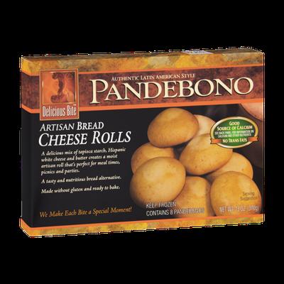 Delicious Bite Pandebono Artisan Bread Cheese Rolls - 8 CT