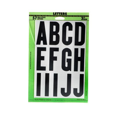 Hy-ko Products Company Peel and Stick Large Letter kit 1 pk