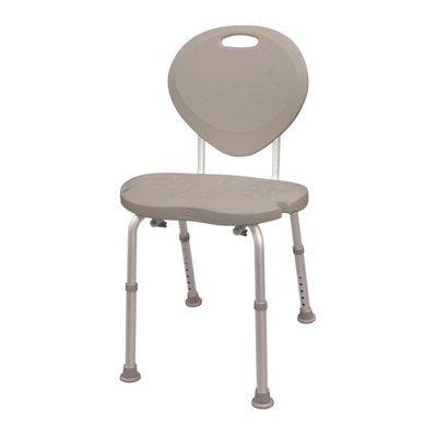AquaSense Adjustable Bath and Shower Chair with Non-Slip Comfort Seat and Backrest