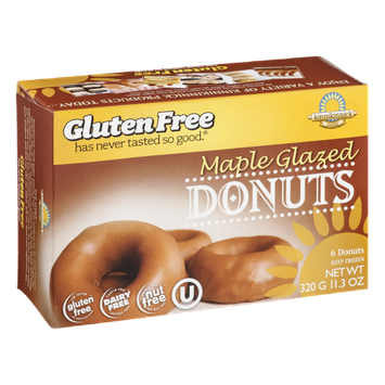 Kinnikinnick Foods Gluten Free Maple Glazed Donuts - 6 CT