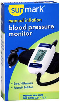 Sunmark Manual Inflation Blood Pressure Monitor, 1 Each by Sunmark