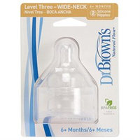Dr Brown's Natural Flow Level 3 Teats- 2 Pack
