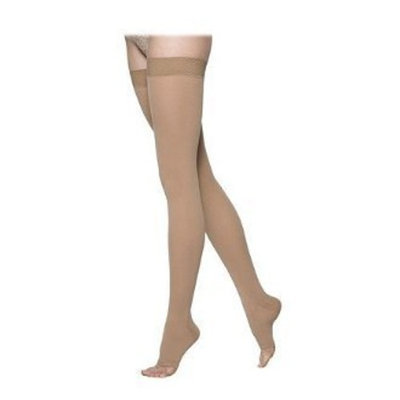 Sigvaris 860 Select Comfort Series 20-30 mmHg Open Toe Unisex Thigh High Sock Size: L4