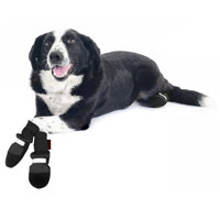 Muttluks Black Fleece Lined Dog Boots, Medium ()