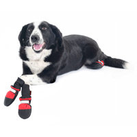 Muttluks Fleece-Lined Dog Boots in Red (Set of 4)