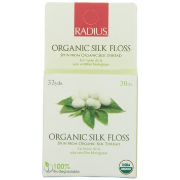 RADIUS Natural Biodegradable Round Silk Floss, 33 Yrd