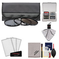 Hoya 58mm II (HMC UV / Circular Polarizer / ND8) 3 Digital Filter Set with Pouch with Canon Cleaning + Accessory Kit