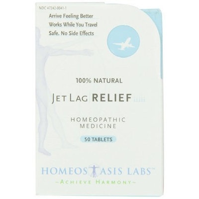 Homeostasis Labs Jet Lag Relief, 50-Count