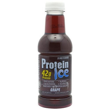 Adv Nutrient Sci Int Advanced Nutrient Science Protein Ice 12 - 20fl oz (591mL) Bottles Grape Protein