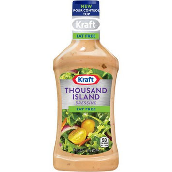 Kraft Salad Dressing Fat Free Thousand Island Dressing, 16 FL OZ (Pack of 6)