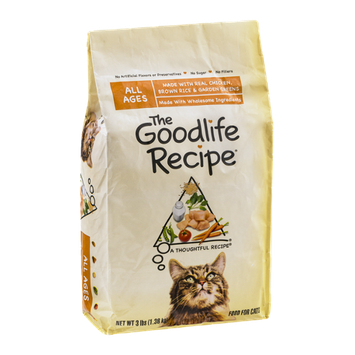 The Goodlife Recipe Cat Food Chicken, Brown Rice & Garden Greens