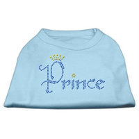 Mirage Pet Products 5266 SMBBL Prince Rhinestone Shirts Baby Blue S 10