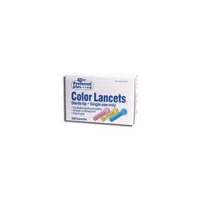 Preffered Plus Products Preferred Plus Lancets Colored - 100 ea