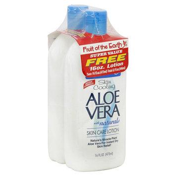 Fruit of the Earth Skin Care Lotion, Aloe Vera, Skin Cooling - 2 pack, 16 oz bottles