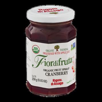 Fiordifrutta Organic Fruit Spread Cranberry