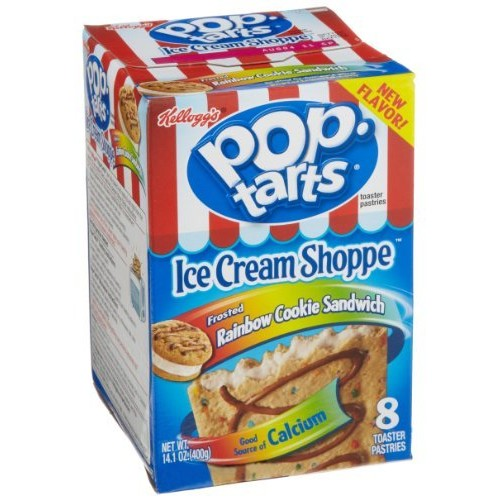 Kellogg's Pop-Tarts Ice Cream Shoppe Frosted Rainbow Cookie Sandwich Toaster Pastries